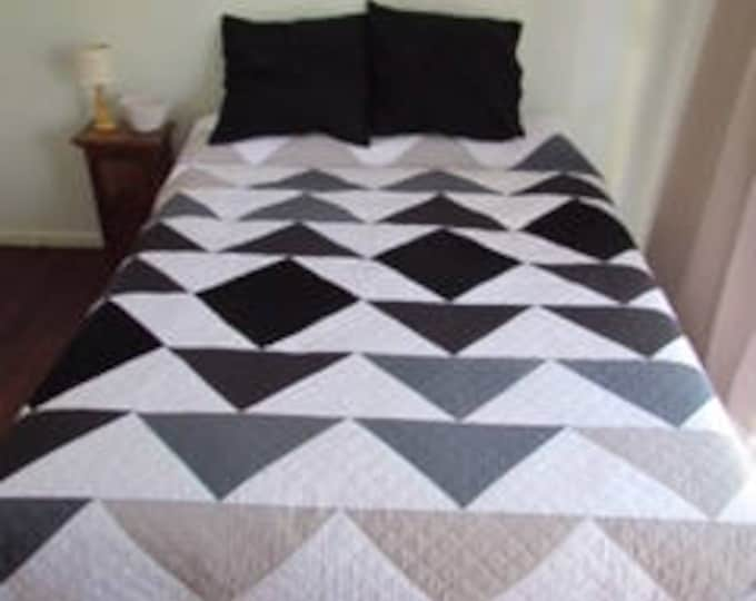 Featured listing image: PDF Pattern - Ombre Flying Geese - Modern Quilt - Immediate Download