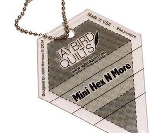 Mini Hex n More ruler / key ring by Jaybird Quilts