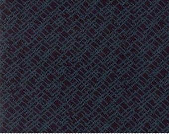 Whispers Muslin Mates by Studio M for Moda. Modern fabric, black on black fabric