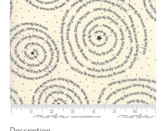 END of Bolt - Freedom Brave Vanilla by Sweetwater   | Modern Fabric | Low Volume Fabric