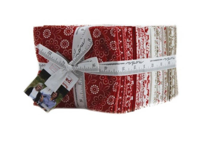 Featured listing image: Moda Fat Quarter Fabric Bundle | Moda fabric | Project Red by Sweetwater