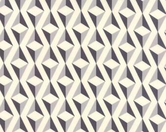 Serenity Diamond Whisper Stone by Amy Ellis for Moda. Modern fabric. Cream, grey and charcoal.