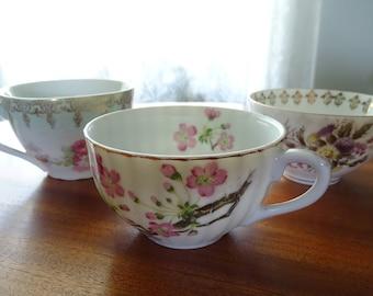 China Tea Cups Set of Three