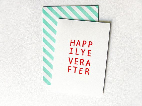 Gluckwunschkarte Valentinskarte Hochzeitskarte Handbedruckt Etsy