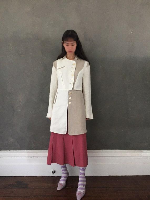 Vtg linen avant garde jacket