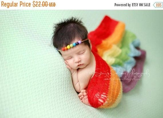 Newborn Wrap Rainbow Baby, Rainbow Baby Photo Prop, Rainbow Baby Wrap, Rainbow Wrap Newborn Photos, Mohair, Rainbow Baby Newborn Prop