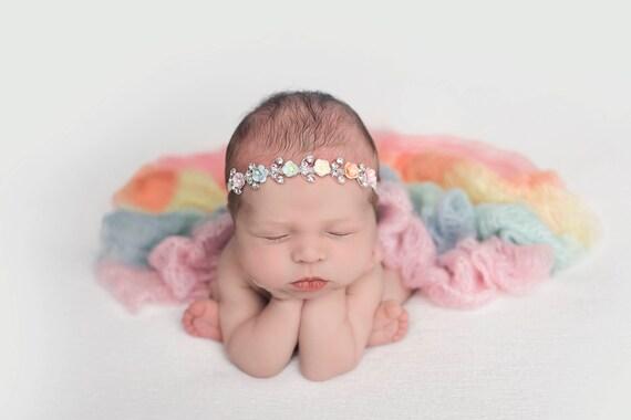 Rainbow Baby Newborn Prop, Newborn Wrap Rainbow Baby, Rainbow Baby Photo Prop, Rainbow Baby Wrap, Rainbow Wrap Newborn Photos, Mohair