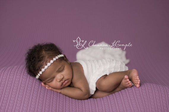 Flower Rhinestone Halo, Newborn Rhinestone Headband, Newborn Headband, Simple Headband Baby Headband, Photo Prop, Newborn Prop