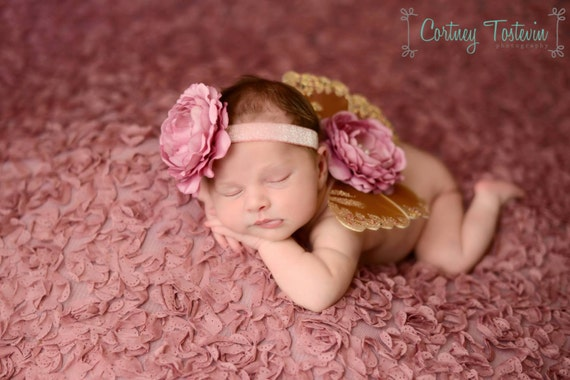 Brown and Mauve Butterfly Wing Set, Newborn Wings, Newborn Wing Prop, Baby Wing Prop, Newborn Photo Prop, Newborn Butterfly Wings