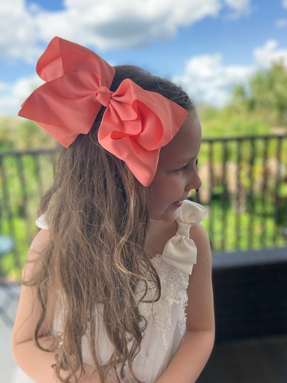"Big Bow, Boutique Bow, Large Boutique Bow, 7""-8"" Bow, Solid Hairbow, Big Bow"