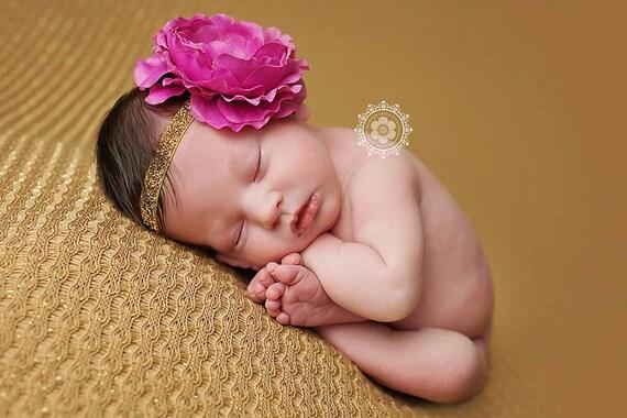 Delaney, Fucshia Headband, Pink Flower Headband, Baby Girl Headband, Baby Headband, Photo Prop, Newborn Prop, Baby Girl Photo Prop