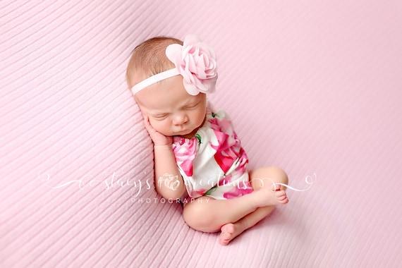 Off the Shoulder Newborn Romper / Pink Romper / Newborn Knit Romper / Newborn Romper / Newborn Knit Outfit / Baby Girl Prop
