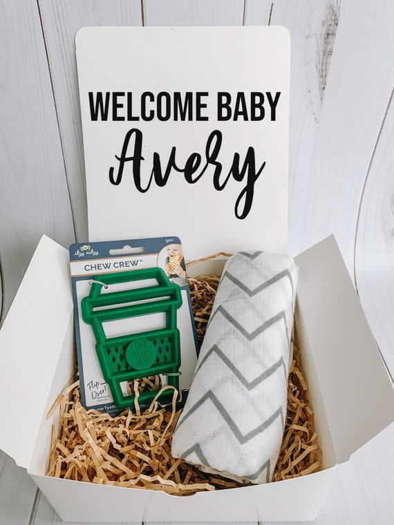 New Baby Gift Box / Funny Baby Gift / Baby Girl Gift / Baby Boy Gift / Baby Shower Gift / Quarantine Gift Box / love you Latte Baby Gift