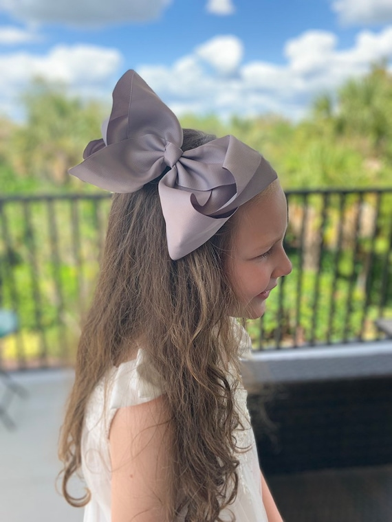 "Big Bow, Boutique Bow, Large Boutique Bow, 7""-8"" Bow, Solid Hairbow, Big Bow, Neutral Colored Bows"