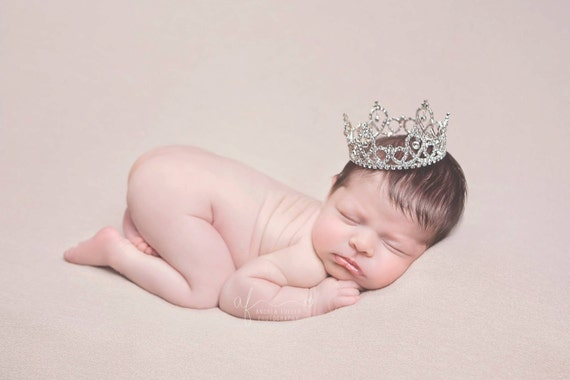 Austrian Crystal Rhinestone Crown, Princess Crown, Newborn Crown, Newborn Baby Prop, Mini Crown, Newborn Photo Prop, Newborn Prop