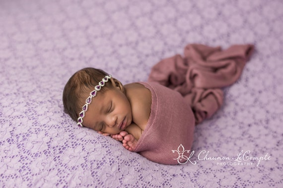Smokey Lavender Wrap, Soft Wrap, Oatmeal Wrap, Ivory Knit Wrap, Newborn Photo Prop, Newborn Photo Prop, Newborn Wrap, Newborn Layer