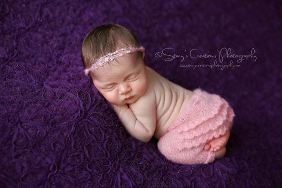 Pink Newborn Pants / Pink Knit Pants / Mohair Photo Prop / Mohair Tie Back / Newborn Photo Prop / Newborn Knit Outfit / Pink Tie Back / RTS