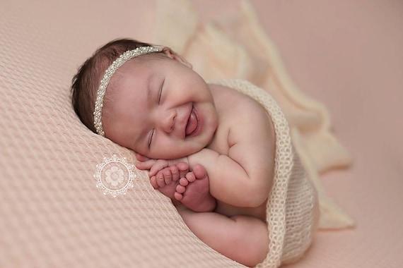 Pearl Beaded Headband, Baby Headband, Baby Tie Back, Petite Headband, Baby Girl Headband, Newborn Headband, Christening Headband, Baptism