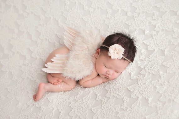 Ivory Angel Wings, Angel Wings, Newborn Wings, Newborn Angel Wings, Newborn Wing Prop, Angel Wing Prop, Wing Prop, Angel Wings