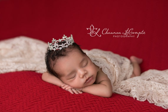 Austrian Crystal Rhinestone Crown, Princess Crown, Newborn Crown, Newborn Baby Prop, Mini Crown, Newborn Photo Prop