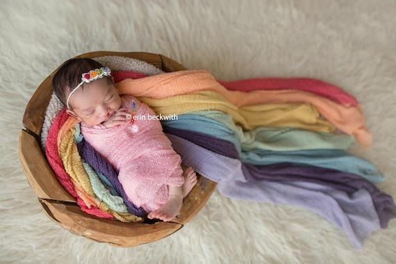 Rainbow Headband, Rainbow Tie Back, Rainbow Baby Headband, Simple Headband, Organic Tie Back, Newborn Photo Prop