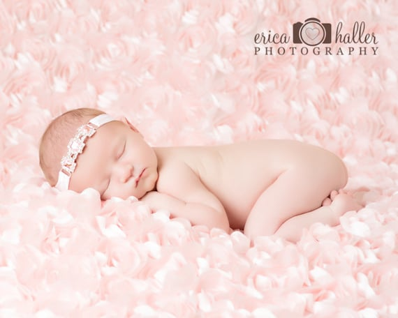 Sweet Sophie Stunning Fit for a Queen Newborn Pink Rhinestone Tie Back Baby Headband Halo Baby Crown Photo Prop