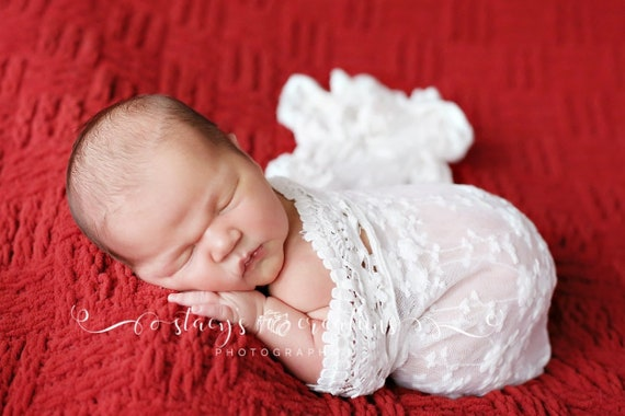 Delicate Lace Wrap / Newborn Photo Prop / Newborn Wrap / Newborn Lace Wrap