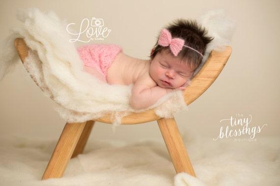 Newborn Mohair Skirt and Tie Back / Newborn Photo Prop / Pink Skirt / Newborn Tie Back / Newborn Photo Prop / Knit Newborn Skirt / RTS