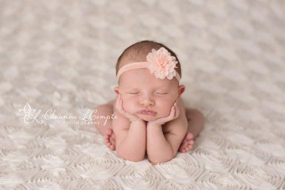 mejor fotografía Prop. Recién Nacido Bebé Niña Tieback Mohair Hecho a Mano Diadema Set 2
