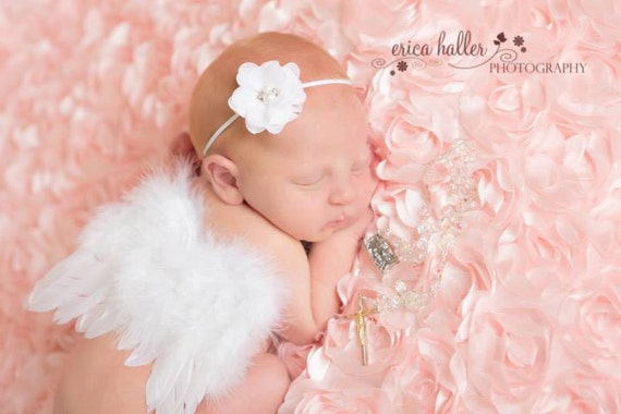 Couture Fairy Baby White Angel Baby Wings only Beautiful Newborn Photo Prop Infant Toddler Adult Many Colors available