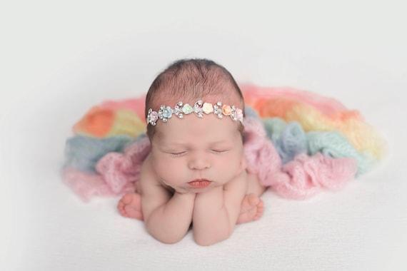 Rainbow Baby Photo Prop, Rainbow Baby Newborn Prop, Rainbow Baby Wrap, Rainbow Wrap Newborn Photos, Mohair, Newborn Wrap Rainbow Baby