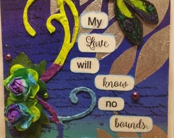 Mixed media bible verse wall tag