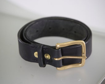 Classic, rugged, hand stitched leather belt.