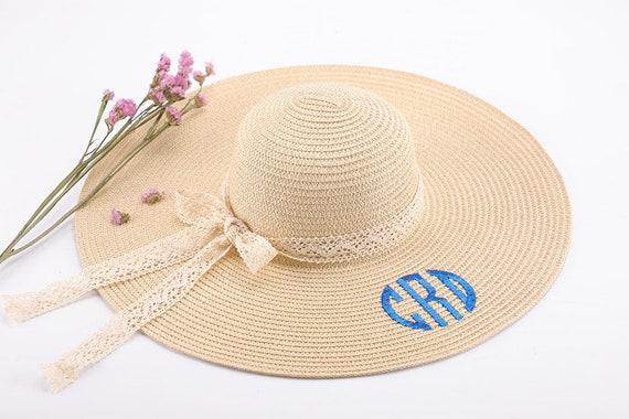 Floppy Hat Monogrammed Beach Hat Personalized Floppy Hat  6c1e531ef0c