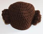 Crochet Princess Leia hat.  Star Wars Hat Princess Leia braids. Infant-Child/Adult sized Star Wars Inspired Leia hat Costume