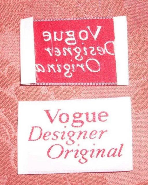 Original Vtg. Vogue Designer Original Clothing Fas