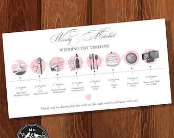 Wedding Day Timeline - DIGITAL OR PRINTED