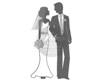 Silhouette Wedding Program - Couple 46