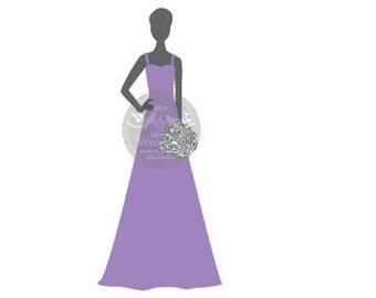 Silhouette Wedding Program - Bridesmaid 46