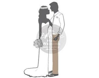 Silhouette Wedding Program - Couple 44
