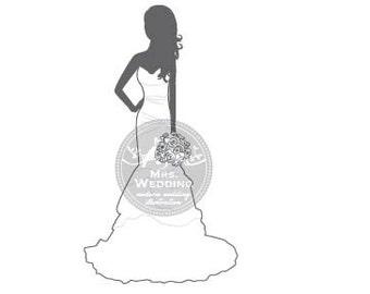 Silhouette Wedding Program - Bride 19