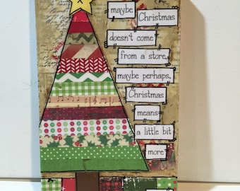 christmas mantle decor maybe perhaps christmas means a little bit more christmas sign dr seuss christmas quote