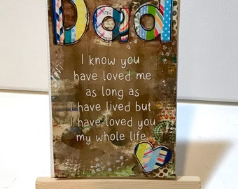 Dad Gift Idea, Father's Day, Hero, Print and Easel Set