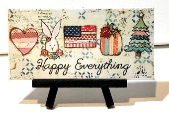 Spring Decoration Farmhouse, Happy Everything, Happy Everything sign, Season decor, Fall