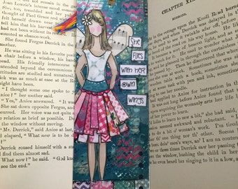 Angel Bookmark, She flies with her own wings