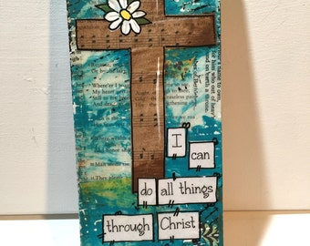 Religious Cross Sign,  Religious wall art, Bible Verse Cross, Bible Study Gift