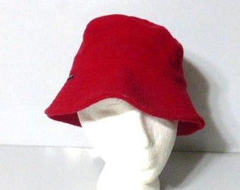 2587aa288d46c 110417clth01 -- Vintage CLUB MONACO Bucket Hat 65 Wool 35 Viscose Red Hat