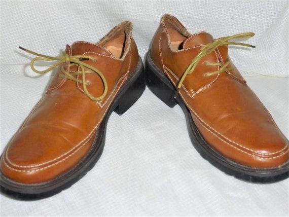 Size 7 Vintage Bata Shoes Brown Leather Shoes Men'