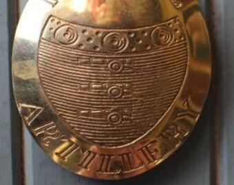 British Royal Artillery gunners  sword cross belt Belt Plate (Brass)