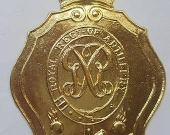British Royal Artillery 1812 Shako Plate  (Brass)